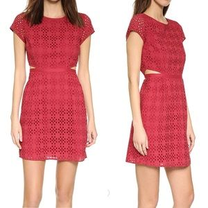 Madewell | Eyelet Happening Cutout Red Dress